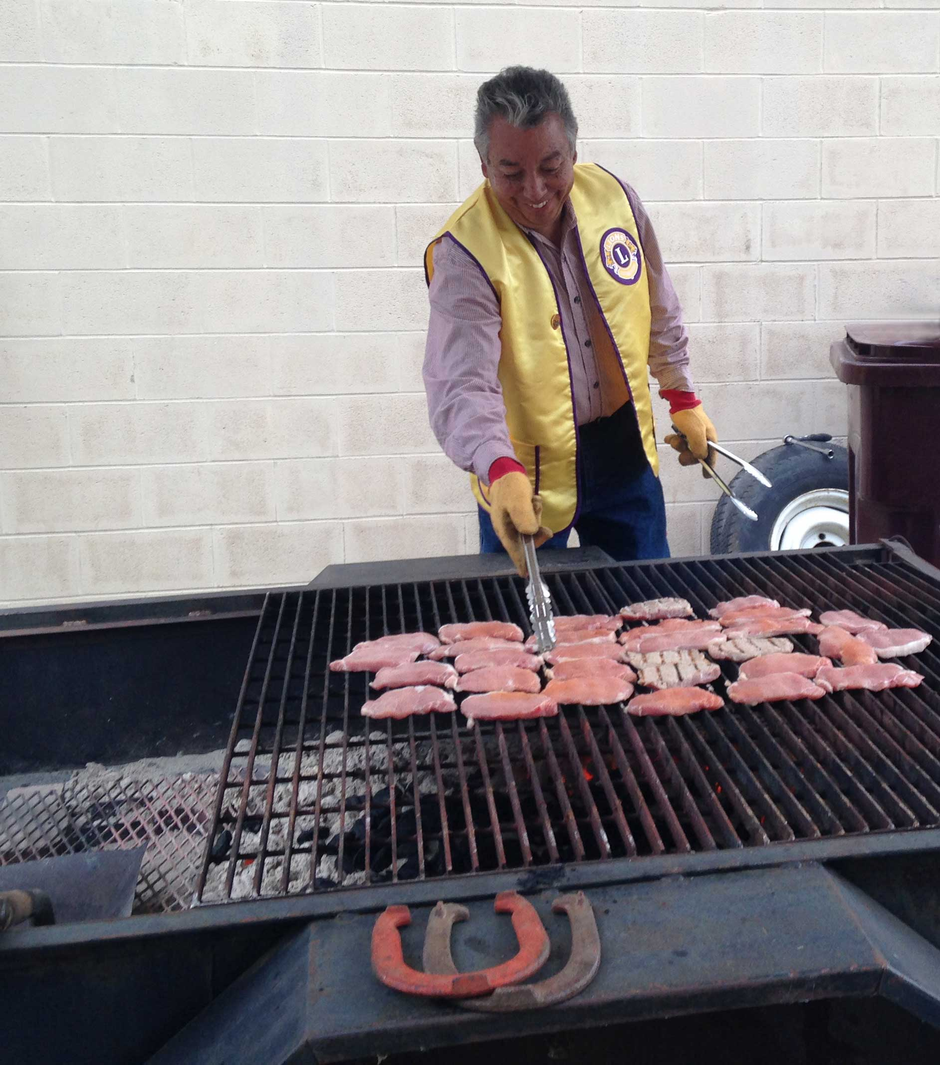 Cortland Lion Mike on the grill image